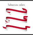 set of three modern colored indonesian ribbon vector image vector image