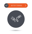 Terminal electrical icon Charging the battery vector image vector image
