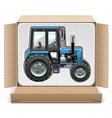 Toy Tractor in Box vector image vector image