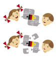 two children german lesson dialog vector image vector image