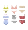 Underwear silhouette isolated set vector image vector image