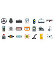 video game icon set flat style vector image