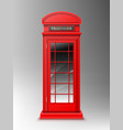 vintage red telephone booth london phone box vector image