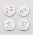volunteering app icons set altruistic activity vector image
