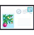 Winter envelope vector image vector image