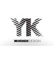 yk y k lines letter design with creative elegant vector image vector image