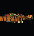 your auto warranty what to look for text vector image vector image