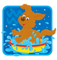 Zodiacal sign of the Water Bearer vector image