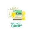 financial security icon vector image