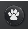 modern black glass circle icon vector image