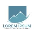 mountain logo design vector image