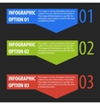 Abstract modern infographics options banner vector image