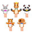 a funny colections of puppet pet animal vector image