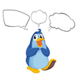 A penguin thinking vector image vector image