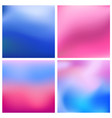 abstract blue pinkblurred background set 4 vector image vector image