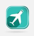 airplane Color square icon vector image
