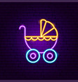 bacarriage neon sign vector image vector image