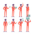 businessman characters poses and actions set vector image