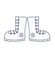 camping boots footwear accessory isolated icon vector image