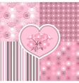 Cherry blossom seamless stylized flowers 4 vector image vector image