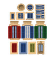 collection traditional maltese windows vector image