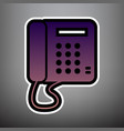 communication or phone sign violet vector image vector image