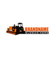 construction vehicles logo template vector image vector image