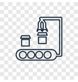 conveyor concept linear icon isolated on vector image
