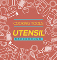 Cooking Tools And Utensil Background vector image vector image