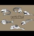 dead fish bones vector image