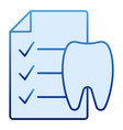 dentist history flat icon medical history blue vector image vector image