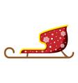 empty santa sleigh with snowflakes vector image vector image