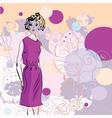 fashion girl vector image vector image