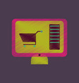 flat shading style icon computer sale online vector image vector image