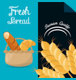 Fresh bread premium quality brochure image