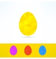 Geometrical low poly egg on white background vector image vector image