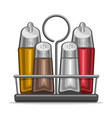 glass shakers for salt and pepper vector image vector image