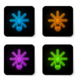 glowing neon light bulb with gear inside and vector image vector image