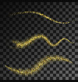 golden glittering magic waves with gold vector image