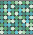 green big dots tile pattern or background vector image vector image