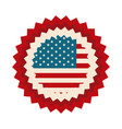 happy independence day american flag celebration vector image