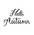 hello autumn modern brush phrase vector image vector image