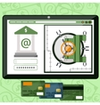 Internet online banking vector image vector image