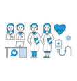 medical research teamwork vector image vector image