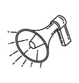 megaphone icon doodle hand drawn or outline icon vector image
