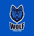 modern wolf mascot logo vector image vector image