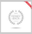 money back icon vector image