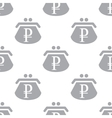 New Rouble purse seamless pattern vector image vector image