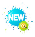 new symbol on splash with dart on target business vector image vector image