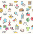 online retail pattern vector image